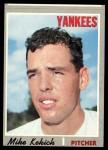 1970 Topps #536  Mike Kekich  Front Thumbnail