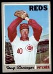 1970 Topps #705  Tony Cloninger  Front Thumbnail