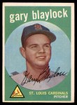 1959 Topps #539  Gary Blaylock  Front Thumbnail