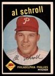 1959 Topps #546  Al Schroll  Front Thumbnail