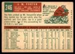 1959 Topps #246  J.W. Porter  Back Thumbnail