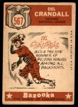 1959 Topps #567   -  Del Crandall All-Star Back Thumbnail