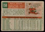 1959 Topps #158  Walt Dropo  Back Thumbnail