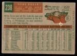 1959 Topps #238  Gene Baker  Back Thumbnail