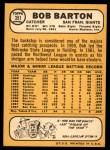 1968 Topps #351  Bob Barton  Back Thumbnail