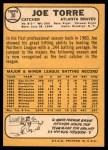 1968 Topps #30  Joe Torre  Back Thumbnail