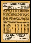 1968 Topps #501  Blue Moon Odom  Back Thumbnail