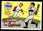 1970 Fleer World Series #23   -  Grover Alexander 1926 Cardinals vs. Yankees   Front Thumbnail