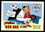 1970 Fleer World Series #12   -  Babe Ruth 1915 Red Sox vs. Phillies   Front Thumbnail