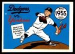 1970 Fleer World Series #52   -  Johnny Podres 1955 Dodgers vs. Yankees   Front Thumbnail