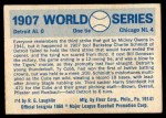 1970 Fleer World Series #4   1907 Cubs vs. Tigers Back Thumbnail