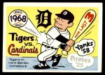 1970 Fleer World Series #65   1968 Tigers vs. Cardinals Front Thumbnail