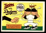 1970 Fleer World Series #62   1965 Dodgers vs. Twins Front Thumbnail