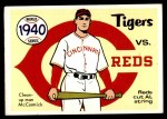 1970 Fleer World Series #37   1940 Reds vs. Tigers Front Thumbnail