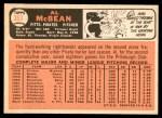 1966 Topps #353  Al McBean  Back Thumbnail