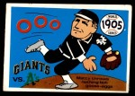 1970 Fleer World Series #2   -  Christy Mathewson 1905 Giants vs. A's   Front Thumbnail
