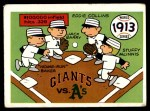 1970 Fleer World Series #10   1913 A's vs. Giants Front Thumbnail