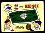 1970 Fleer World Series #15   1918 Red Sox vs. Cubs Front Thumbnail