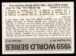 1971 Fleer World Series #57   1959 Dodgers / Wh.Sox  (Duke Snider) -   Back Thumbnail