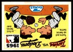 1971 Fleer World Series #63   1965 Dodgers / Twins -   Front Thumbnail