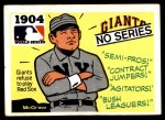 1971 Fleer World Series #2   1904 NO Series  (John McGraw) -   Front Thumbnail