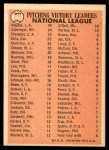 1966 Topps #223   -  Sandy Koufax / Don Drysdale / Tony Cloninger NL Pitching Leaders Back Thumbnail