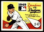 1971 Fleer World Series #47   1949 Yankees / Dodgers  (Preacher Roe) -   Front Thumbnail