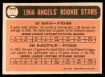 1966 Topps #417   -  Jim McGlothlin / Ed Sukla Angels Rookies Back Thumbnail