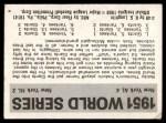 1971 Fleer World Series #49   1951 Yankees / Giants  (Ed Lopat) -   Back Thumbnail