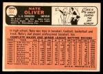 1966 Topps #364  Nate Oliver  Back Thumbnail