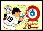 1970 Fleer World Series #55   -  Bob Turley 1958 Yankees vs. Braves   Front Thumbnail