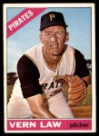 1966 Topps #15  Vern Law  Front Thumbnail