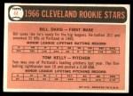 1966 Topps #44   -  Tom Kelley / Bill Davis Indians Rookies Back Thumbnail