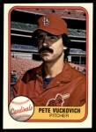 1981 Fleer #547 ERR Pete Vuckovich  Front Thumbnail