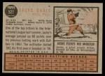 1962 Topps #521  Jacke Davis  Back Thumbnail