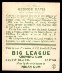 1933 Goudey #236  Kiddo Davis  Back Thumbnail