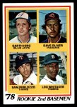 1978 Topps #704   -  Lou Whitaker / Gart lorg / Dave Oliver / Sam Perlozzo Rookie 2nd Basemen   Front Thumbnail