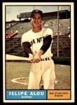 1961 Topps #565  Felipe Alou  Front Thumbnail