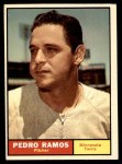 1961 Topps #528  Pedro Ramos  Front Thumbnail