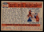 1957 Topps #311  Al Pilarcik  Back Thumbnail