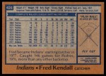 1978 Topps #426  Fred Kendall  Back Thumbnail