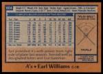 1978 Topps #604  Earl Williams  Back Thumbnail