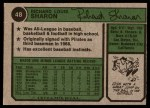1974 Topps #48  Dick Sharon  Back Thumbnail