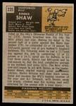 1971 Topps #235  Dennis Shaw  Back Thumbnail