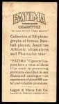 1914 T222 Fatima  Joe Bush  Back Thumbnail