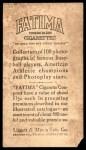 1914 T222 Fatima  Heinie Zimmerman  Back Thumbnail