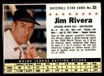 1961 Post #33 BOX Jim Rivera   Front Thumbnail