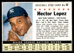 1961 Post #12 BOX Hector Lopez   Front Thumbnail