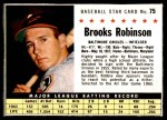 1961 Post #75 BOX Brooks Robinson   Front Thumbnail