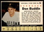 1961 Post #53 BOX Don Buddin   Front Thumbnail